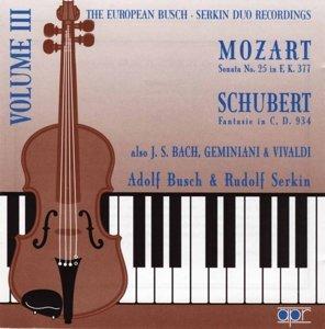 Busch-Serkin Duo Vol.3