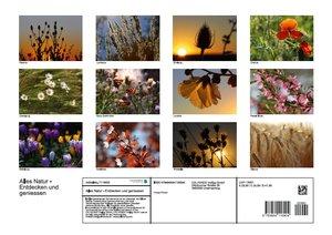 Alles Natur - Entdecken und geniessen (Posterbuch DIN A3 quer)
