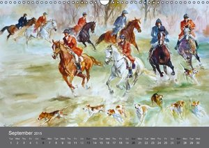 Horses in four seasons 2015 (Wall Calendar 2015 DIN A3 Landscape