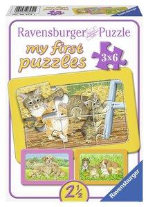 Liebste Haustiere. My first puzzle - Rahmenpuzzle 3 x 6 Teile
