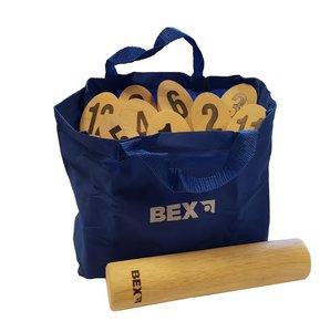 BEX 511-150 - Number Kubb Original, Nummern Kubb aus Gummibaum H