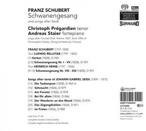 Schwanengesang and songs after Seidl
