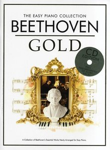 THE EASY PIANO COLLECTION BEETHOVEN GOLD EASY PIANO BOOK/CD