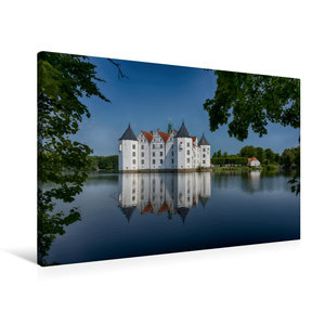 Premium Textil-Leinwand 90 cm x 60 cm quer Wasserschloss Glücksb