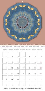As time goes by Rusty Mandalas for a whole year (Wall Calendar 2