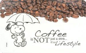 """Peanuts - Frühstücksbrettchen Snoopy - """"Coffee is not just a dri"""