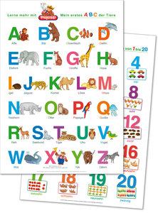 2 Lernposter: Mein erstes ABC der Tiere + Zahlen und Mengen von