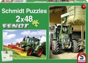 Schmidt Spiele 55562 - Fendt: Traktoren, 2x48 Teile Puzzle