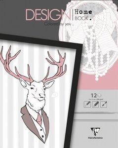 Malbücher verleimt für Erwachsene: Design Home Book 13 x 17 Vers