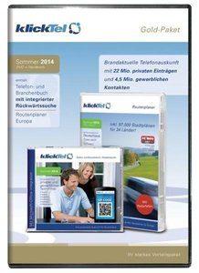 klickTel Gold-Paket Sommer 2014. Für Windows XP/Vista/7/8