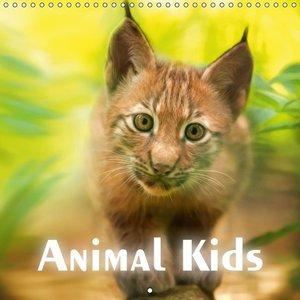 Animal Kids (Wall Calendar 2015 300 × 300 mm Square)