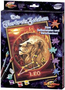 Schipper 609390676 - Malen nach Zahlen - Tierkreiszeichen Löwe,