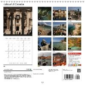 colourful Croatia (Wall Calendar 2015 300 × 300 mm Square)