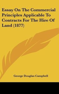 Essay On The Commercial Principles Applicable To Contracts For T