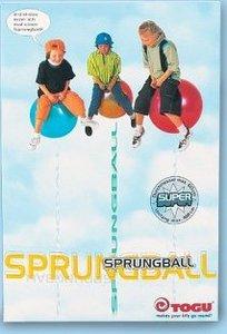 TOGU 360350 - Sprungball Super Rainbow, Hüpfball, 60 cm