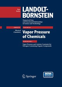 Vapor Pressure and Antoine Constants for Nitrogen Containing Org