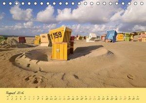 Nordsee - Dünen, Sand, Wasser und Wolken (Tischkalender 2016 DIN