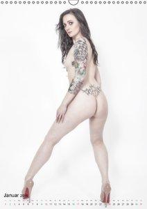 Erotik und Tattoos mit Model Shedance (Wandkalender 2016 DIN A3
