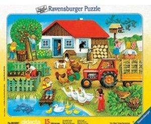 Was gehört wohin. Puzzle mit 15 Teilen
