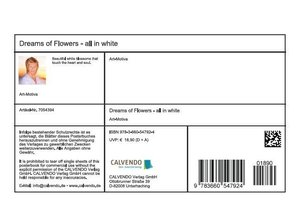 Dreams of Flowers - all in white (Stand-Up Mini Poster DIN A5 L