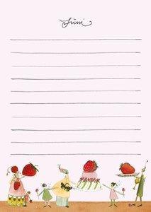 Geburtstags-Kalender A6 Motiv Blumengarten