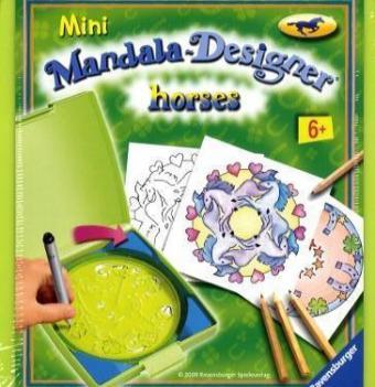 Ravensburger 29986 - Mini Mandala Designer, Horses - zum Schließen ins Bild klicken