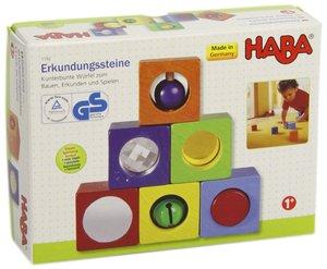 Haba 1192 - Erkundungssteine, 6 Holzwürfel