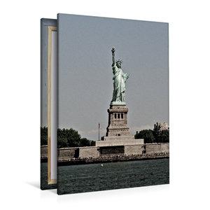 Premium Textil-Leinwand 80 cm x 120 cm hoch Freiheits-Statue
