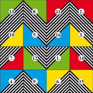Magische Quadrat-Muster