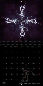 body painting mandalas / fru.ch (Wall Calendar 2015 300 × 300 mm