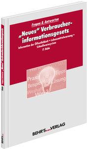 """""""Neues"""" Verbraucher-informationsgesetz"""