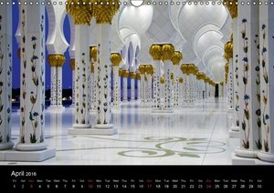 Abu Dhabi - Sheikh Zayed Grand Mosque (Wall Calendar 2016 DIN A3