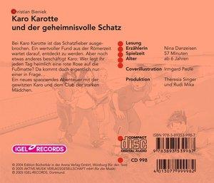 Karo Karotte und der geheimisvolle Schatz. CD