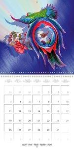 Dessins de perroquets et de roses (Calendrier mural 2016 300 × 3