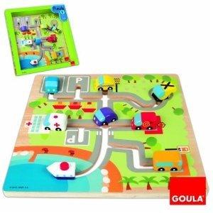Jumbo Spiele D53101 - Goula: Labyrinthpuzzle, Fahrzeuge