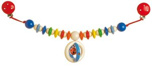 Goki 33580 - Kinderwagenkette Glocke mit Clips, Holz
