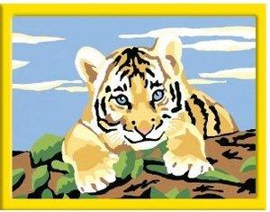 Kleiner Tiger. Malen nach Zahlen Serie E