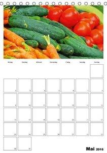 Frisches Gemüse (Tischkalender 2016 DIN A5 hoch)