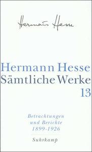Betrachtungen und Berichte 1. 1899-1926