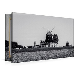 Premium Textil-Leinwand 90 cm x 60 cm quer Klützer Mühle