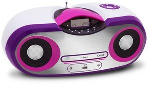 CD-Radio CD54, Top-Lader, weiss/pink