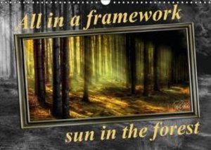 All in a framework - sun in the forest / UK-Version / birthday c