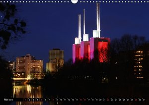 Hannover in der Nacht (Wandkalender 2016 DIN A3 quer)