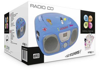 Tragbares CD/Radio CD46 Kids -blau - zum Schließen ins Bild klicken