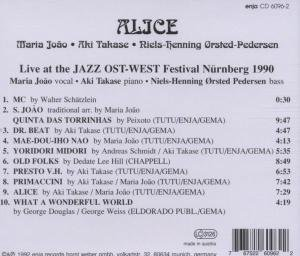 Alice-Live at Jazz Ost-West 1990