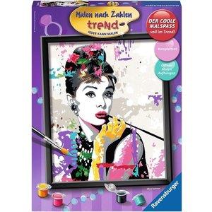 Ravensburger 28438 - Malen nach Zahlen, Audrey Hepburn