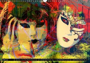 Venise l'art des masques (Calendrier mural 2016 DIN A3 horizonta