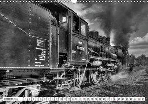 Unter Dampf - Eisenbahnromantik in schwarz-weiß (Wandkalender 20