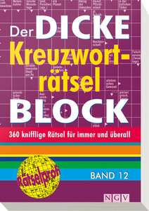 Der dicke Kreuzworträtsel-Block 12