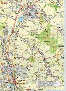 Mulderadweg (Zwickauer Mulde) Radwander- und Wanderkarte 1 : 50